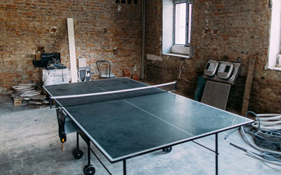 Ping Pong Table in New Moldova Community Center