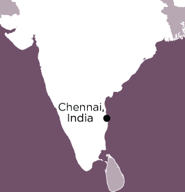 Location of Word Made Flesh Chennai