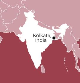 Location of Word Made Flesh Kolkata