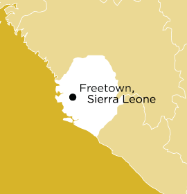 Location of Word Made Flesh Sierra Leone